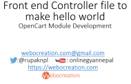 Front end Controller file to make hello world – OpenCart Module Development