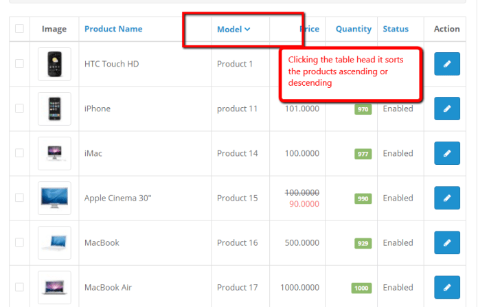 Opencart Product listing by product_id