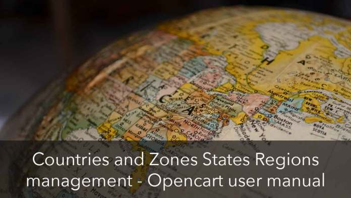 Countries and Zones in Opencart