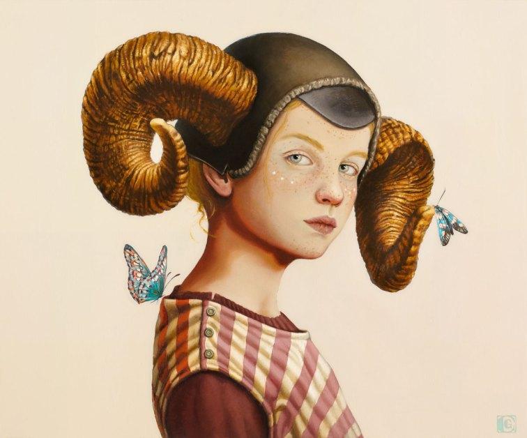 CLAUDIA GIRAUDO, Cuore di fauno | IV Atto, 2018, olio su tela, 50 x 60 cm