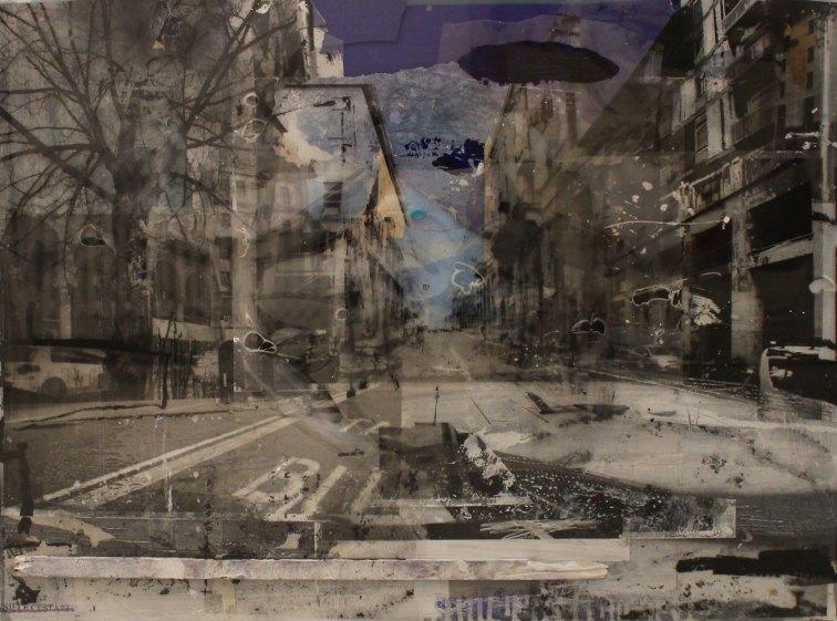 DANIELE CESTARI, Varese, 2018, collage e tecnica mista su pannello, 60 x 80 cm