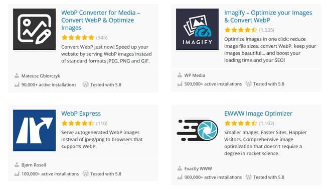 Plugins for uploading WebP Images in WordPress