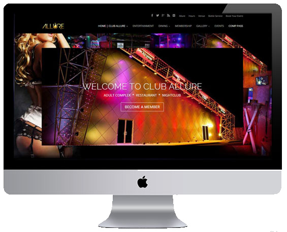 Gentlemens Club Website by Webology Inc