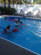 First Swim in Jeff's pool