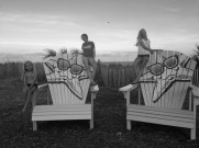 Serious beach girls