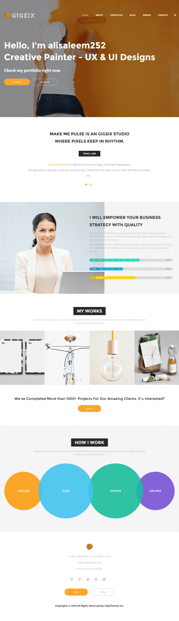Freelancer html5 bootstrap theme