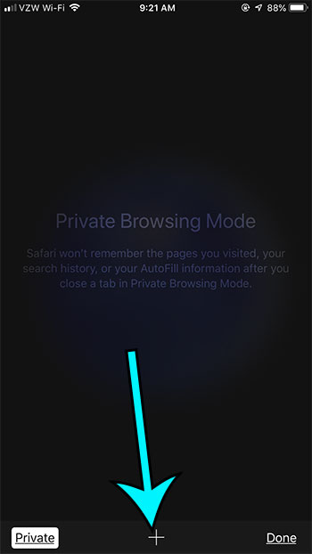 how to do private browsing on an iphone 7
