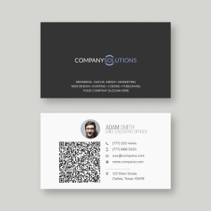 The best setup for your self hosted wordpress shopping site and modern qr code business card template reheart Gallery