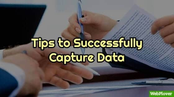 data capturing tips