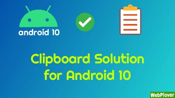 clipboard solution android 10