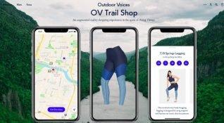 İnsanları evlerinden çıkarıp, özel kıyafetlerle ödüllendiren AR destekli sanal mağaza: Outdoor Voices