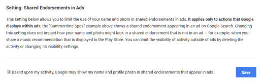 Checkbox for Shared Endorsements
