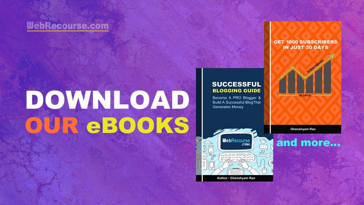 Download Our eBooks (WebRecourse)
