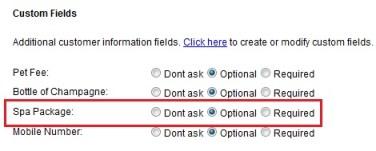Custom Fields in Customer Information
