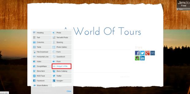 Select widget/html
