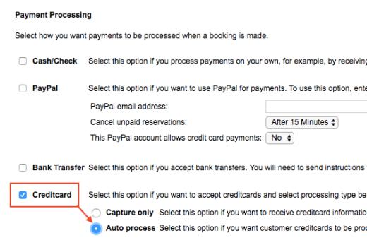 Credit card autoprocess