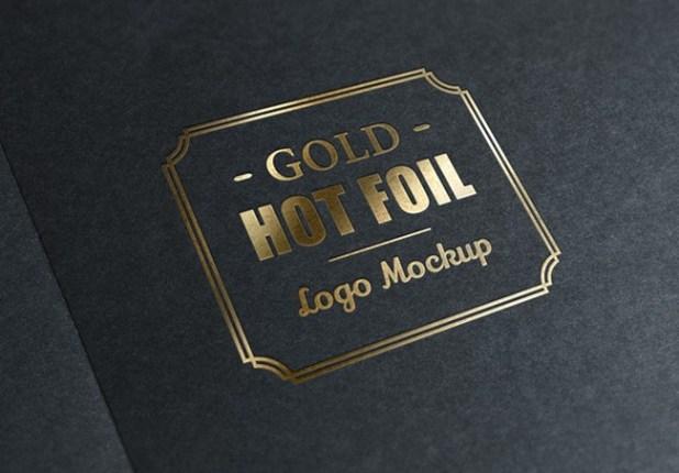 Gold Stamping Logo MockUp
