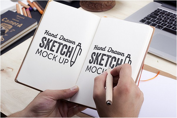 Hand-Drawn Sketch Mock-Up 2