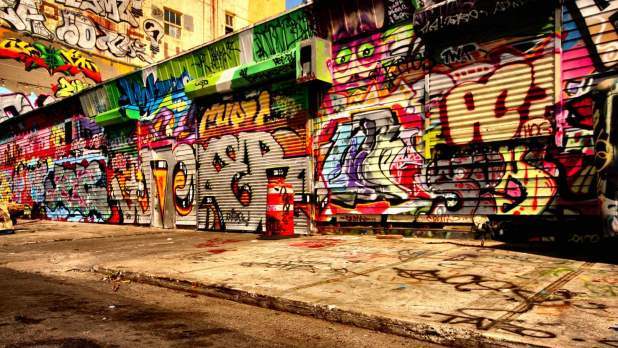 1920 × 1080 abstract graffiti Painted Shop hd wallpaper