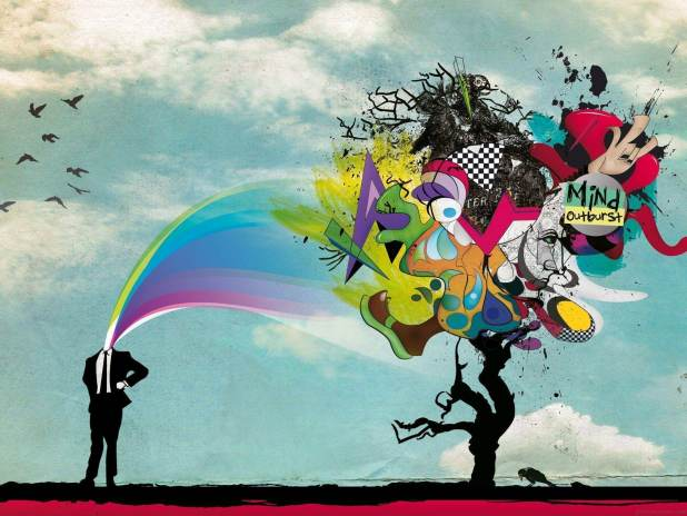 1920 × 1440 Mind abstract graffiti image