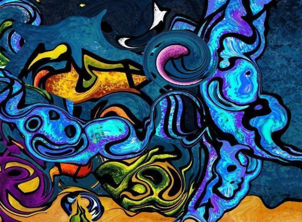 1023 × 754 StrikingGraffiti Abstract Graffiti Wallpaper