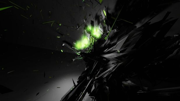 1920 × 1080 Black With Green Full HD 1080p Abstract Wallpapers