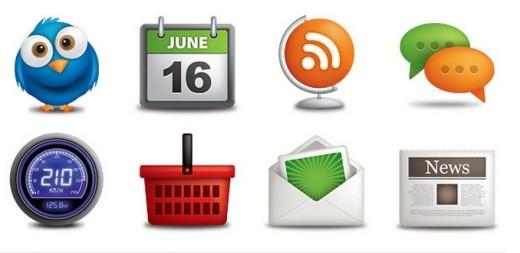 tatlı Kaliteli Web Icon Set