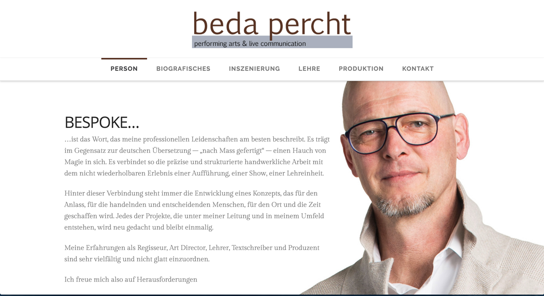 bedapercht.at - webseiteBAUER.com - Webdesign aus Salzburg