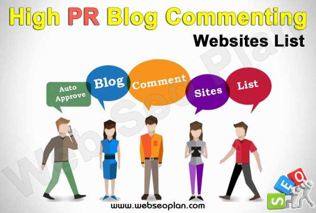 High PR Blog Commenting Sites List