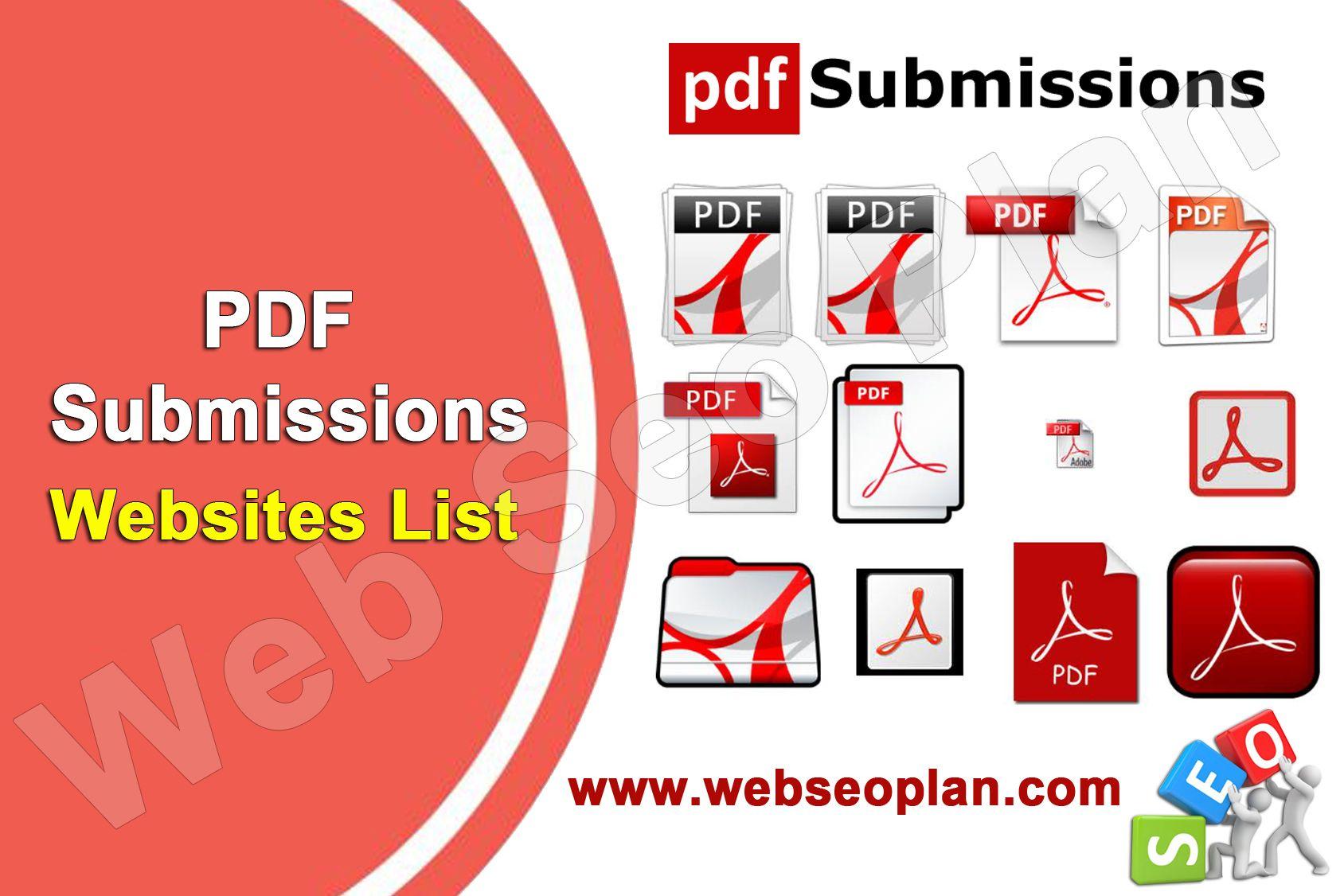 PDF Submissions Sites List
