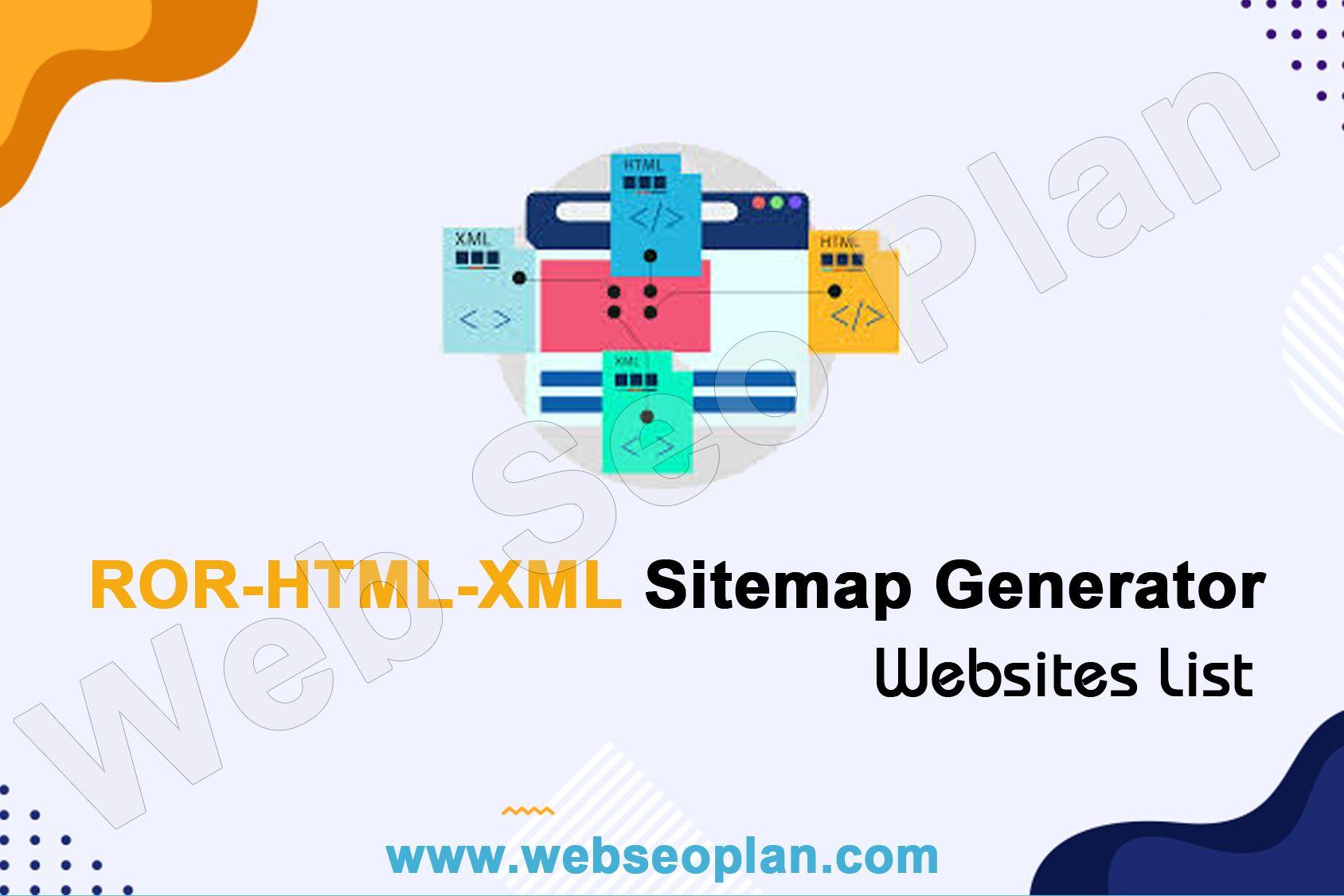 ROR-HTML-XML Sitemap Generator Tool