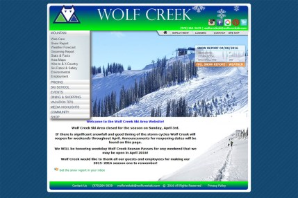 Wolf Creek Ski Resort portfolio image