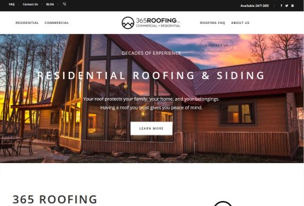 365 Roofing portfolio image