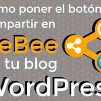 Cómo poner el botón de beBee en tu blog WordPress