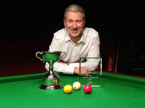 WOE Open Billiards Winner - Dave White 2016-17