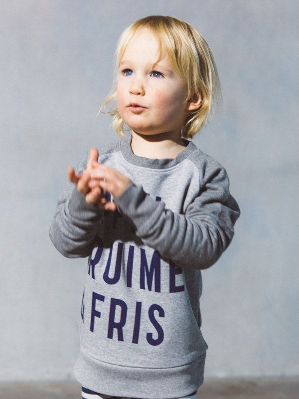Kids Sweater Grey AppelKruimel&Fris from AppelKruimel&Fris