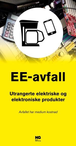 Informasjonsskilt om avfallstypen EE avfall 22x42 cm