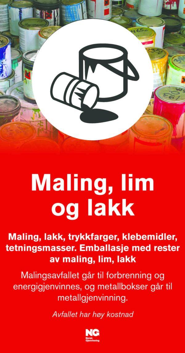 Maling Lim Lakk Fraksjonsskilt 22x42