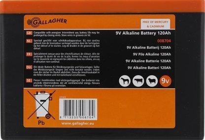 — 008704 — Weideafrastering 9V Powerpack Alkaline batterij —