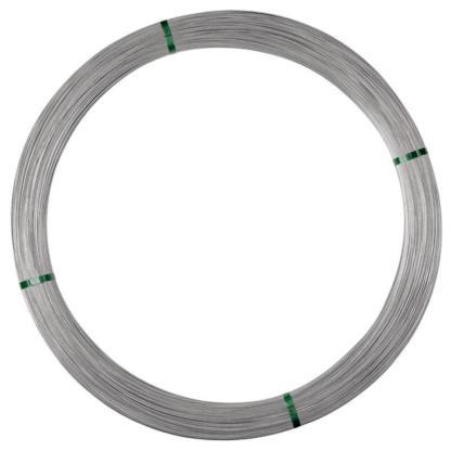 — 077311 — Gallagher 1,8mm draad met een hoge trekvastheid. Door de speciale aluminium-zinklegering wordt het ontstaan van roest voorkomen en wordt er een betere geleiding bereikt. —