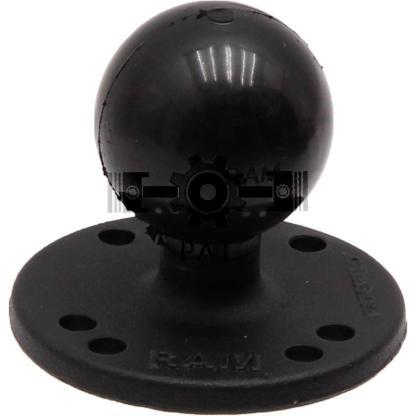 — 5070010043 — gepoedercoat aluminium kogel-Ø: 3,81 cm (1,5 inch, C-kogel) <br> Ø basisoppervlak: 63,5 mm zwart —