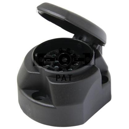 — 50751305031 — van slag- en stootvast kunststof, zwart, met rubber pakking aan de achterzijde in het deksel, met sc —