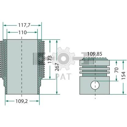 — 154042152 — Deutz,FL 514,Zuiger en cilinderset, 154042152 — Deutz