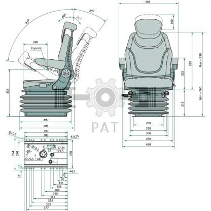 — 24000091 — ● automatische gewicht instelling 50 kg tot 130 kg (APS) ● veerweg 140 mm (luchtvering en hydraulisc —
