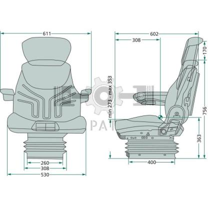 — 2401288547 — ● luchtvering met compressor en laagfrequente vering, 12 volt ● APS: Automatic Positioning System ● —