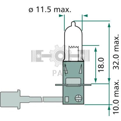 — 44712336PRC1 — mist-,  werklamp en zwaailamp PK 22s —