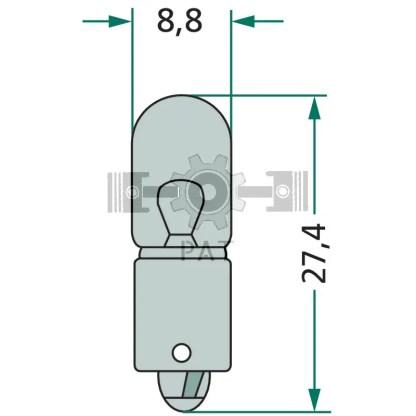 — 47712V2WK9 — positie-, markerings-,  omtrek en binnenverlichting BA 9 s —
