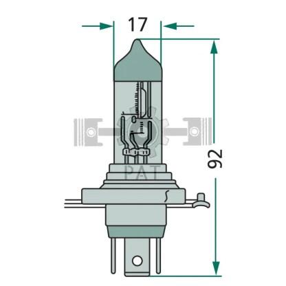 — 47724V75/70WH4 — koplamp P 43 t —