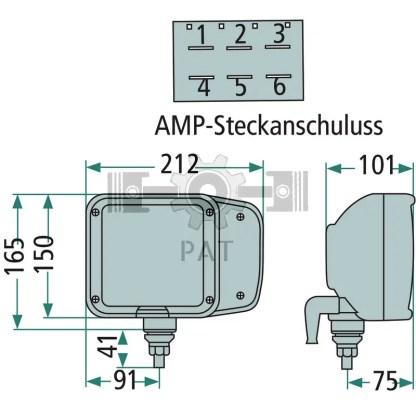 — 4551EA 993975021 — voor staande montage, met H7-dimlicht en H3-grootlicht, breedtelicht en zijdelings bevestigd knipper —