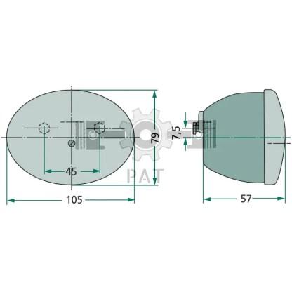 — 4552ST 001673011 — voor kentekenplaten met de afmetingen 340 x 240 mm, met 0°, 25° en 30° hoeken en 240 x 130 mm met 0° —